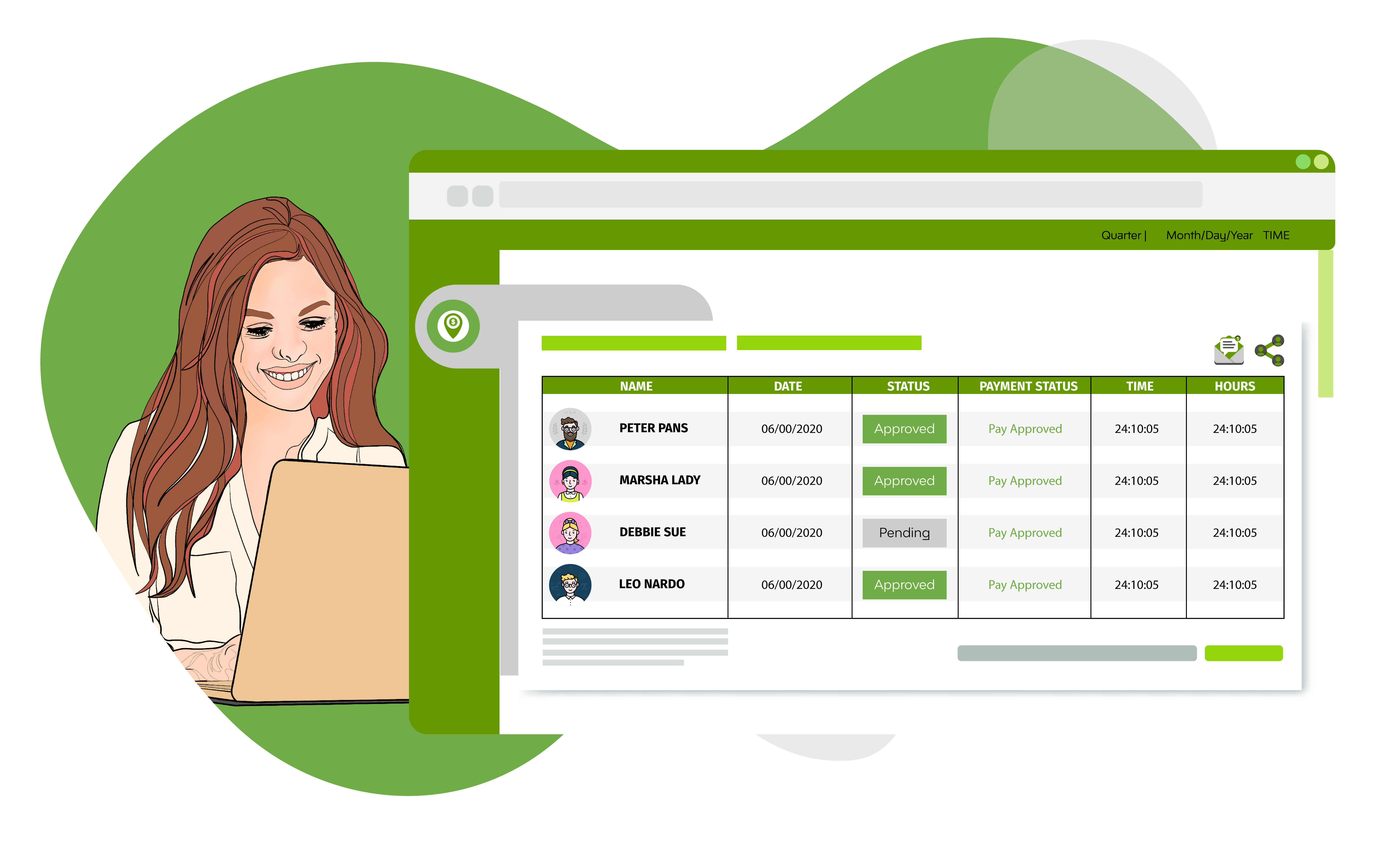 Time Sheets with senegalHIRE by Senegal Software